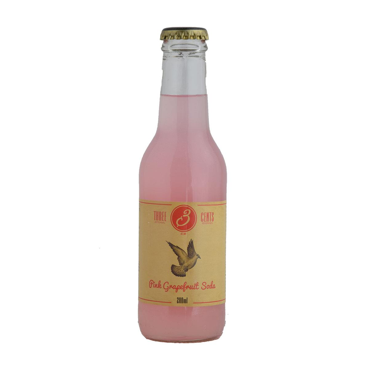 Three Cents Pink Grapefruit Σόδα 200ml