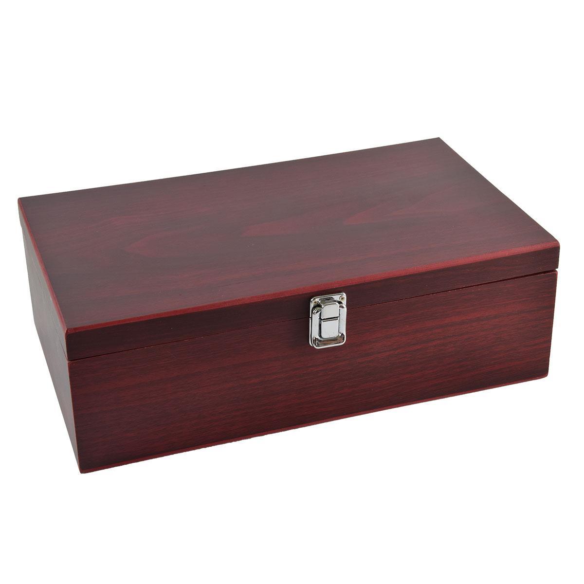Ξύλινο κουτί με αξεσουάρ για κρασί 2 φιαλών