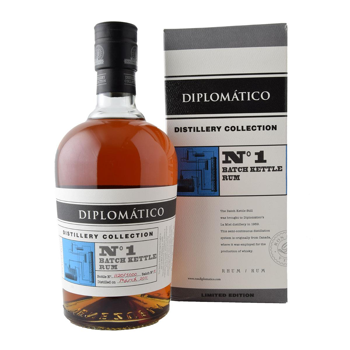 Diplomatico Distillery Collection No1 Batch Kettle Rum 700ml