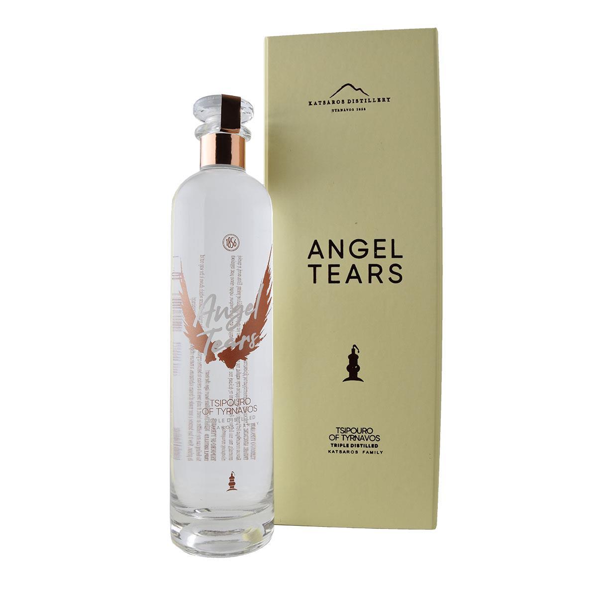 Κατσάρος Angel Tears τσίπουρο χωρίς γλυκάνισο 700ml