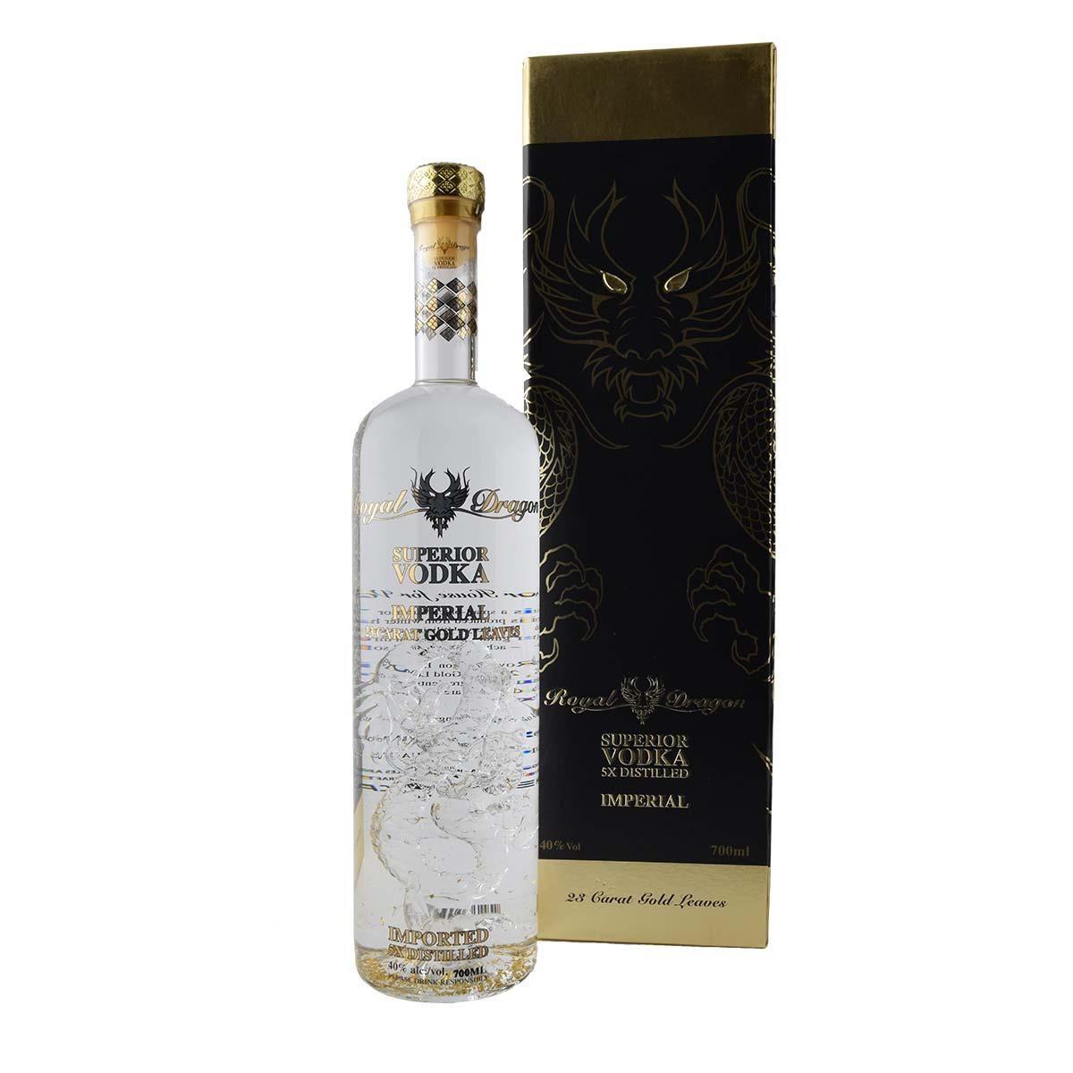 Royal Dragon Imperial 23 Carat Gold Leaves Βότκα 700ml