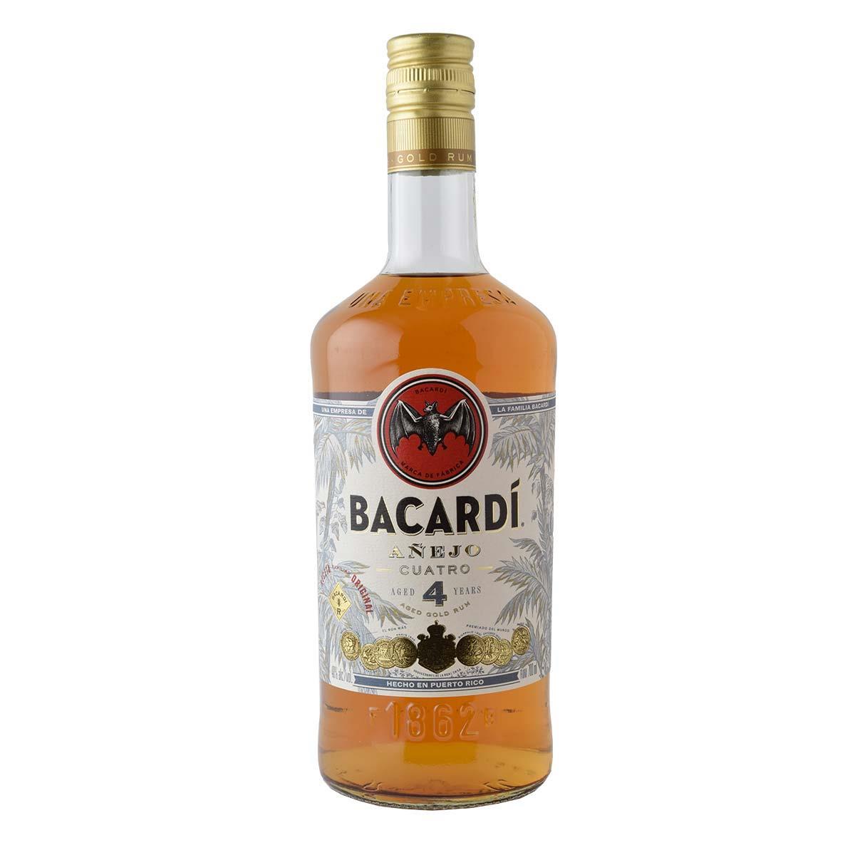 Bacardi Anejo Cuatro 4 y.o. Rum 700ml