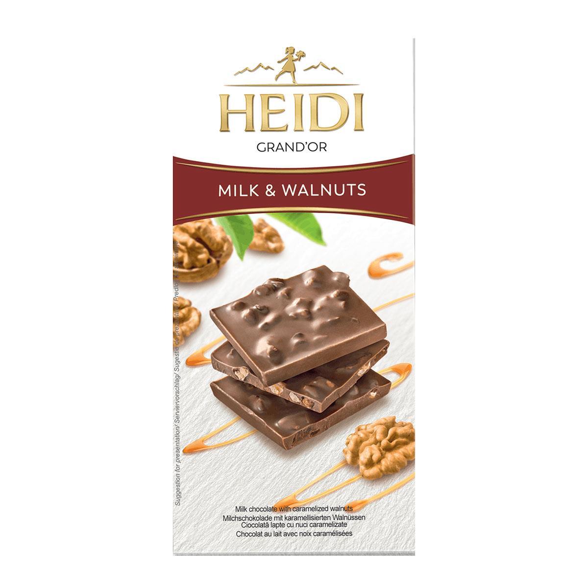 Heidi GrandOr Milk & Walnuts 90gr.